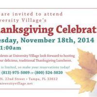 University Village - Thanksgiving 2014 Mailer