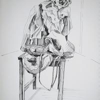 Бардак на стуле. Фломастер