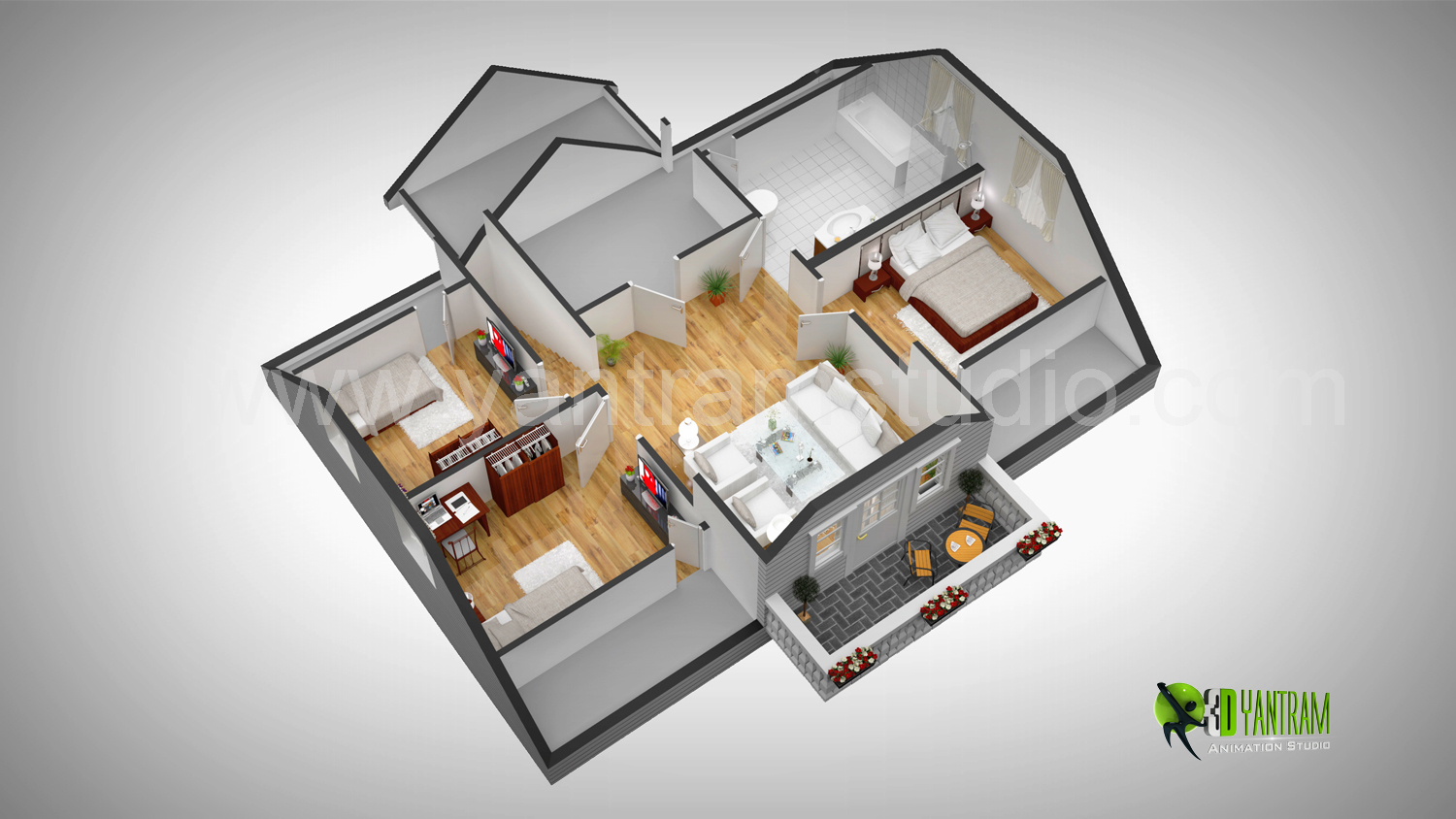 3d Floor Plan Design Interactive 3d Floor Plan Yantram Studio 3d on home planss s all