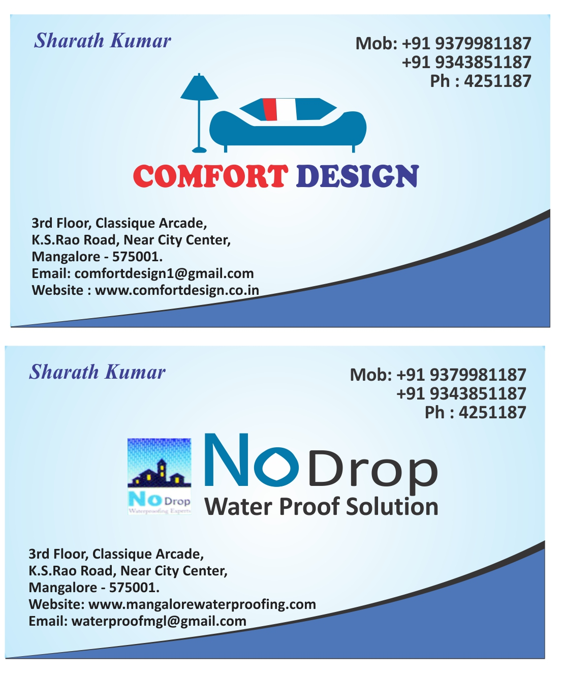 Visiting Cards Certificate Booklet Designs
